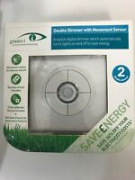 Green-I GI2DPC Stylish Double Dimmer Switch With Movement Sensor