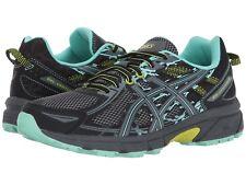 NIB Women's ASICS Gel-Venture® 6 Trail Running Shoes  B & D Wide Bk Lime 412 510