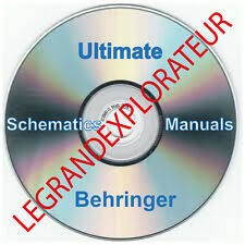 Ultimate Behringer Service Repair Schematics Manuals  (235 PDFs manual s on DVD)