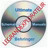 Ultimate  Behringer  Repair  Service manual  Schematics   235 PDF manuals on DVD