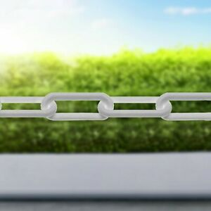 Plastic Barrier Chain Link Safety Decorative Garden Fence White Black Red/White
