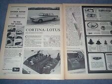 1963 Ford Cortina Lotus Vintage Info Article ---From 1963---