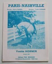 Partition vintage sheet music YVETTE HORNER : Paris-Nashville * Accordéon