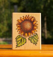"Sunflower Designs 3 3/8"" Wood Mounted Rubber Stamp by Rubber Stampede # 770F"