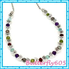 Heart Silver Necklace Nwot Brighton Sweet Candy Colorful