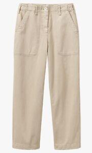 Toast Organic Denim Long Crop Trousers, Beige, Size 12, BNWT