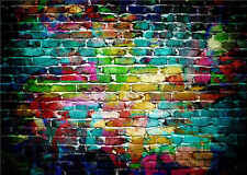 Retro Background Photo Studio Props Vinyl Brick Wall Photography Backdrops 7x5FT