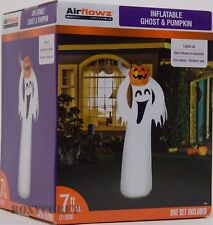 Halloween Airflowz 7 ft Light Up Ghost & Pumpkin Airblown Inflatable NIB