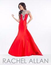 Rachel Allan Prima Donna 5833 Red Rhinestoned Pageant Gala Gown Dress sz 4