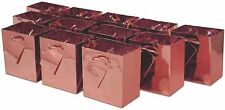 12x Metallic Rose Gold Paper Gift Bags Party Favors & Wedding Supplies Gift Bags