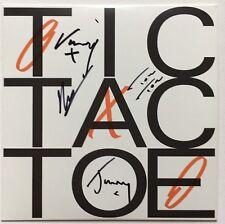 DJANGO DJANGO - TIC TAC TOE HAND SIGNED 7'' RECORD  AUTOGRAPHED