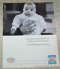 1995 print ad - Pampers Stretch Diapers Cute baby Procter & Gamble diaper ADVERT