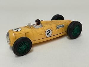 Vintage Tri-Ang Scalextric Yellow 6 Litre Auto-Union Type C MM/C Car - Loft Find