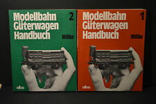 LIVRE TRAIN - MODELLBAHN GUTERWAGEN HANDBUCH N°1 AND 2 - WILLKE - ALBA - TB ETAT