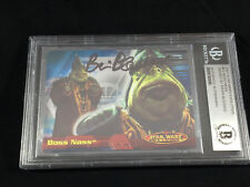 BRIAN BLESSED BOSS NASS EP 2 II TOPPS CARD STAR WARS SIGNED AUTO BAS BECKETT BGS