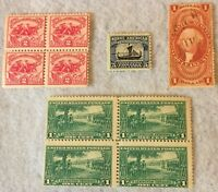 US STAMP LOT 4 Pcs 1862-1925 SCOTT R70, 621, 629, 617 •RARE•