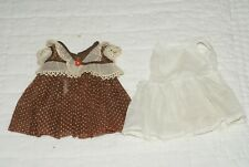 "Original Vintage Brown White Debu'teen Arranbee Dress Slip For 14"" Vintage Doll"