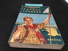 BOY SCOUT HANDBOOK FOR PATROL LEADERS 1962 VINTAGE BOY SCOUT BOOK PATROL LEADERS