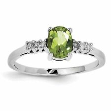 Joyería de plata de ley peridoto diamante