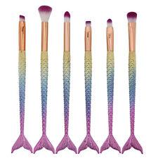 6tlg. Mermaid Brush Set Foundation Eyeshadow Brushes Makeup Brushes Gift
