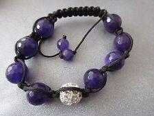 Purple Shamballa Faceted 12mm Bracelet 1pc
