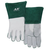 """AP-0328 14/"""" Heavy Duty MIG Heat and Fire Resistant Cowhide Leather Welding Glove"""