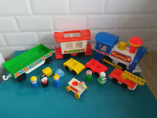 FISHER PRICE express Lot Figurines et accessoires train voiture little people