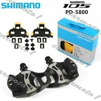 "Shimano 105 PD-5800 SPD-SL Carbon Road Bicycle Bike Pedals Clipless 9/16"" CMT"