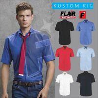 Kustom Kit Men's Workwear Short Sleeve Oxford Shirt