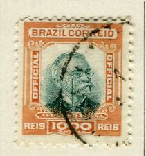 BRAZIL; 1906 early Penna Official issue fine used 1000r. value