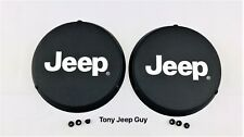 """JEEP"" Wrangler TJ Fog Light Foglight Covers with Spacers NEW MOPAR Set of 2"