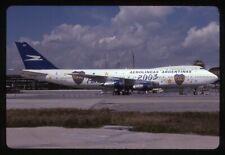 Aerolineas Argentinas Boeing 747-200 LV-OOZ Kodachrome Aircraft Slide/Dia