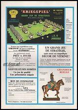 Publicité Jeu de strategie militaire Kriegspiel 1er Empire NAPOLEON vintage 1981