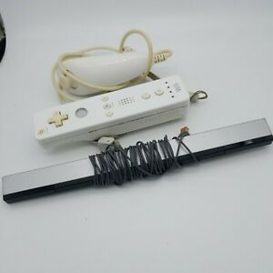 Wii Sensor Bar(1)tested  And 2 free remotes!!. Not tested Authentic Wii. Bundle.
