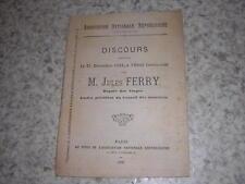 1889.discours du 21 décembre 1888 / Jules Ferry