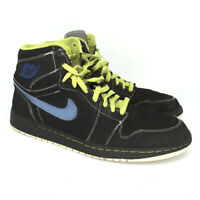 Nike Mens Air Jordan 1 Retro 332550-005 Black Blue Volt Basketball Shoes Size 11