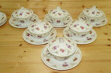 """Z.S. & Co Mignon Set of (6) Bouillon Cups,2"""" (6) Saucers, 6"""" and (6) Lids Covers"""