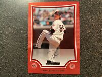 Tim Lincecum Giants 2009 Bowman RED PROOF CARD UNNUMBERED 1/1 CUT FROM SHEET