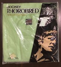 Vtg NOS 1970's Mens Jockey Thorobred Green Blank Basic Undershirt T-Shirt Small