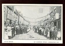 Warwicks Warwickshire ALCESTER Coronation Day street scene PPC