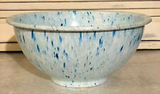 Vintage Light Blue Texas Ware 118 Confetti Splatter Mixing Bowl