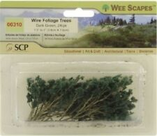 """Wee Scapes 00310, Dark Green Wire Foliage Branches, 1 1/2"""" - 3"""" 24pk"""