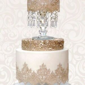 READY MADE CAKE LACE CANDY ROUGH  2 STRIPS      **ONE  PRICE FOR  ANY COLOUR**