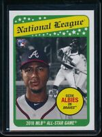 2018 Topps Throwback Thursday Ozzie Albies RC Card #134 Rookie SP