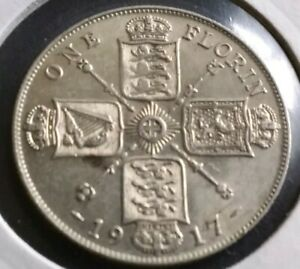 1917 florin in exceptionally fine condition EF