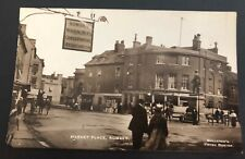 Postcard, Market Place Romsey, (Tiny dog ear lower right) Hampshire