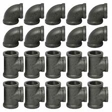3/4 Inch Cast Iron Pipe Fittings 10 Elbows & 10 Tees Stylish DIY Decor 2DAY SHIP