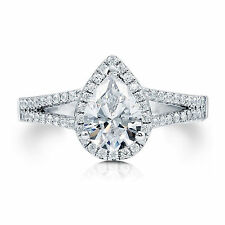 Engagement Band Size 6 7 8 9 1.58 Ct Solitaire Diamond Ring Solid 14K Gold