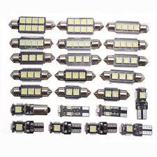 23x LED White Car Inside Dome Trunk Mirror License Plate Light Lamp Bulbs Kit