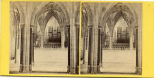 G W WILSON SCOTLAND STEREOVIEW WELLS CATHEDRAL VIEW IN LADY CHAPEL ENGLAND